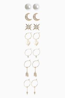 Star Moon Earrings Three Pack