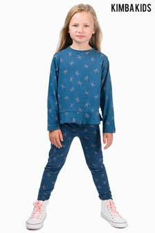 Kimba Kids by Kimberley Walsh K Print Peplum Long Sleeve Tee