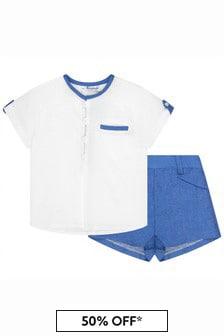 Miranda Baby Boys Blue Linen Outfit