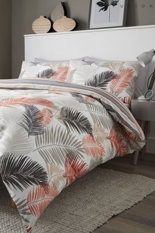 Fusion Tropical Leaves Duvet Cover and Pillowcase Set