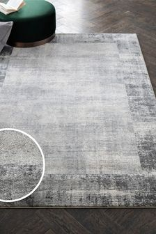 Textured Border Rug