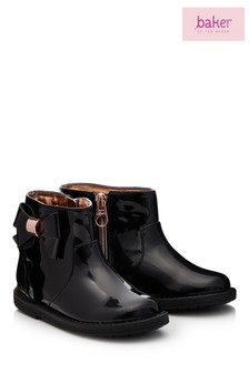 Baker by Ted Baker Patent Bktg Frill Boot