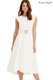 Phase Eight Cream Mariella Belted Dress