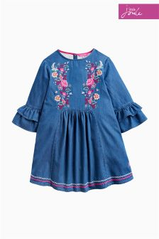 Joules Chambray Florence Frill Dress