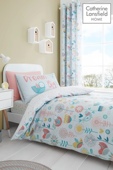 Catherine Lansfield Little Birds Easy Care Bed Set