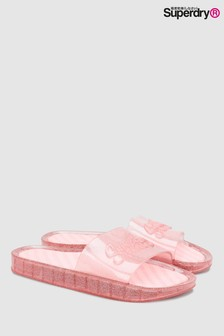 Superdry Pink Pool Slider