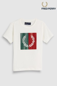 Fred Perry Kids Split Laurel Wreath T-Shirt