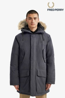Fred Perry Black Padded Snorkel Parka