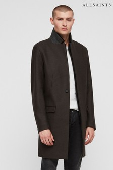 All Saints Khaki Green Jarvus Over Coat