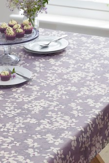 Wipe Clean Vintage Floral Tablecloth