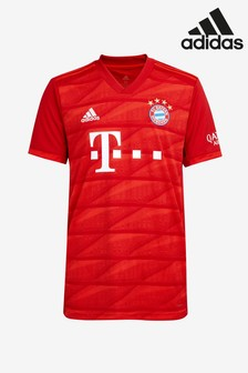 adidas Red FC Bayern Munich Home 19/20 Jersey Top