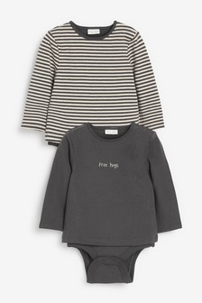 2 Pack T-Shirt Bodysuits (0mths-3yrs)