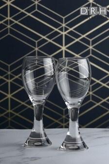 Set of 2 The DRH Collection Anton Studio Designs Manhattan White Wine Glasses