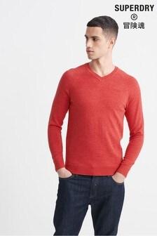 Superdry Orange Label Cotton V-Neck Jumper