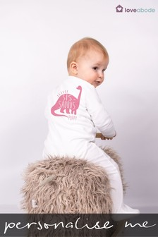 Personalised Sis Saurus Sleepsuit by Loveabode