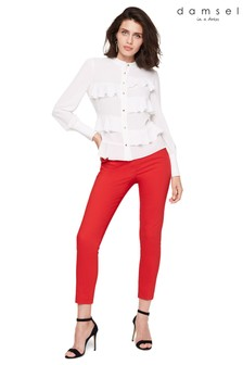 Damsel In A Dress Red Danica Cropped Trouser