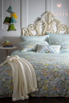 Oasis Floral Ombre Duvet Cover and Pillowcase Set