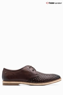 Base London® Tan Weave Riff Lace-Up Shoe