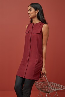 Sleeveless Longline Tunic