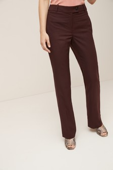 Sharkskin Texture Boot Cut Trousers