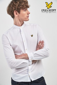 Lyle & Scott Poplin Slim Fit Grandad Shirt