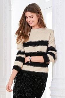 Stripe Sequin Sweater