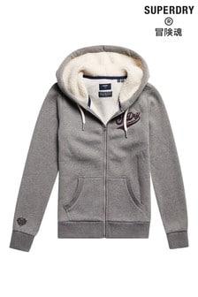 Superdry Grey Pride In Craft Zip Hoodie
