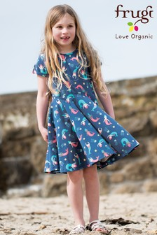 Frugi Organic Soft Navy Mermaid Skater Dress