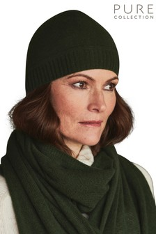 Pure Collection Green Cashmere Hat