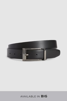 Shiny/Matte Reversible Leather Belt
