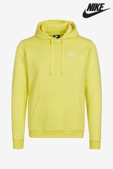 Sweat à capuche Nike Club jaune à enfiler