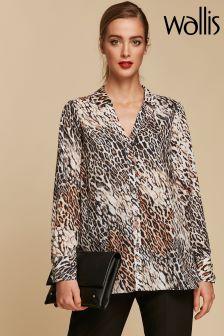 Wallis Natural Leopard Shirt