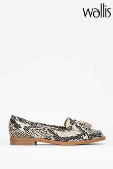 Wallis Buffalo Animal Snake Tassle Loafers