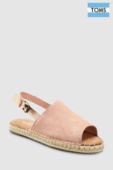 TOMS Pink Suede Metallic Strap Sandal