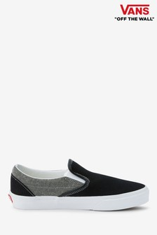 7470923fd5 Vans Black Grey Slip On Trainer