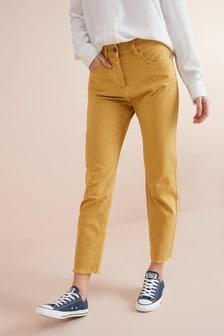 High Waist Straight Ankle Jeans