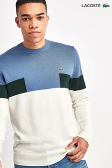 Lacoste® Colourblock Cotton And Wool Blend Jumper