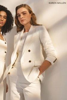 Karen Millen White Tailored Jacket