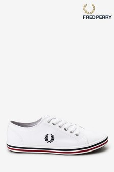 Fred Perry White Kingston Twill Trainers