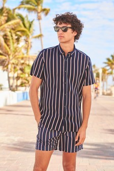 Vertical Stripe Swim Shorts