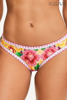 Figleaves Yellow Floral Frida Classic Brief