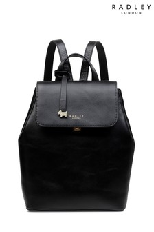 Radley London Black Sandler Street Medium Flapover Bag