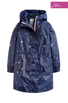 Joules Navy Go-Lightly Waterproof Packaway Coat