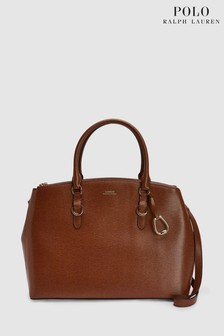 Polo Ralph Lauren® Tan Leather Satchel Bag