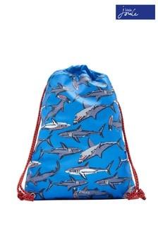 Joules Blue Sharks Rubber Boys Rubber Drawstring Bag