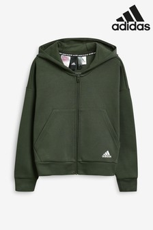 adidas Dark Green Must Have Zip Through Hoody