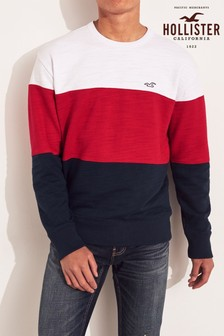 Hollister Navy Crew Sweater