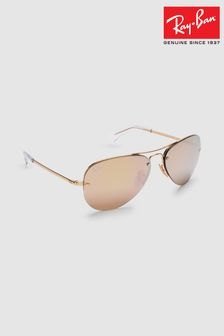 Ray-Ban® Gold Aviator Lightforce Sunglasses