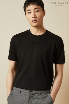 Ted Baker Black Ocra T-Shirt With Embroidered Logo