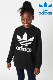 adidas Originals Black Trefoil Crew Top